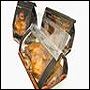 "Picture of item 321-202 a Microwaveable Chicken Bag with Window and Handle.  8.25"" x 6.25"" x 7"".  ""Hot To Go"" Design."