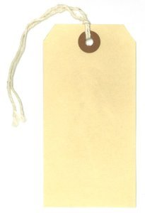"Picture of item 372-101 a Manilla Shipping Tag.  3.75"" x 1-7/8"". #3 Size."