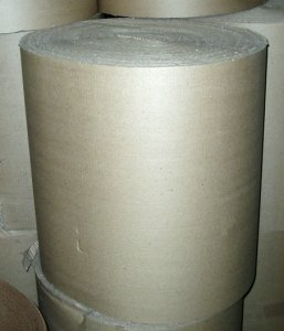 "Picture of item 380-106 a Corrugated Flex Wrap.  84"" x 250 Feet.  B-Flute Singleface."