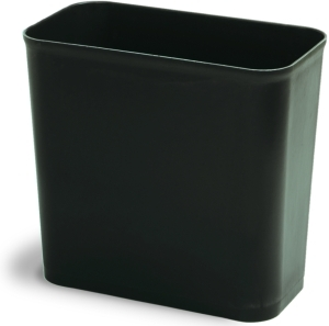 "Picture of item 561-111 a EPH Classified UL® Rectangular Fire Resistant Wastebasket.  28 Quart.  8-1/2"" x 14"" x 16"" Tall.  Sand Color."