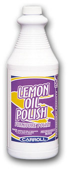 Picture of item 613-105 a Lemon Oil Polish.  Furniture Polish.  Oil based, no wax buildups, repels moisture and soils.  1 Quart.