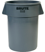 "Picture of item 982-295 a BRUTE® Container.  44 Gallon.  24"" Diameter x 31-1/2"" GRAY"