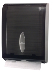 Picture of item 971-566 a GP Combination C-Fold or Multifold Paper Towel Dispenser.  11 X 5.25 X 15.4 in.Translucent Smoke.