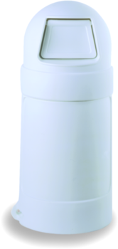 "Picture of item 562-126 a Roun'Top™ Receptacle.  18 Gallon.  15"" Diameter x 37"" Tall.  White Color."