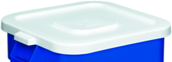 "Picture of item 562-144 a Huskee™ Square Recycling Lid.  22"" x 22"" x 2"".  White Color.  Fits 2800 Receptacle."
