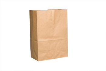"Picture of item 310-123 a Grocery Sack.  1/6 Barrel.  12"" x 7"" x 17"".  57 lb. Kraft Paper."