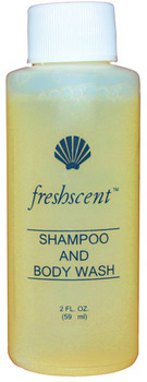 Picture of item 973-840 a Freshscent™ Shampoo and Body Wash.  2 fl. oz.