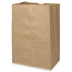 "Picture of item 310-124 a Grocery Sack.  1/6 Barrel.  12"" x 7"" x 17"".  66 lb. Kraft Paper."