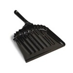 "Picture of item 518-103 a Heavy Duty Metal Dust Pan.  2-3/4"" x 13-1/2"" x 12"" Wide.  Black Color."