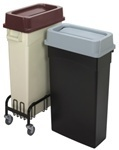 "Picture of item 561-118 a Wall Hugger™ Receptacle.  23 Gallon.  11-1/2"" x 19-3/4"" x 30-1/2"" Tall.  Gray Color."