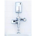 Picture of item 603-318 a AutoHygiene System for Toilets.  Chrome Finish.  Contains: AutoFlush Unit for Toilet, AutoClean Dispenser, Stainless Steel Tube, Saddle Kit, and Purinel Refill.  Batteries Included.  Does not include saddle connection kit (sold separately).