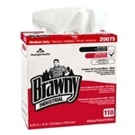 "Picture of item 871-130 a Brawny Industrial™ Premium All Purpose DRC Wipers (Tall Dispenser Box).  9.25"" x 16"".  White Color.  90 Wipers/Dispenser Box."