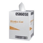 "Picture of item 975-865 a WYPALL* L40 Professional Towels.  19.5"" x 42"".  White Color.  200 Towels/Pop-Up Box."