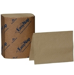 "Picture of item 226-915 a EasyNap® Embossed Dispenser Napkins.  6.5"" x 9.85"" Napkin.  6.5"" x 5"" Folded Size.  Brown Color.  EPA Compliant.  250 Napkins/Package."
