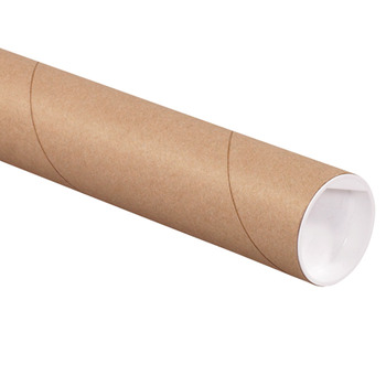 "Picture of item 967-083 a Mailing Tubes with Caps.  2"" x 20"".  Kraft Color."