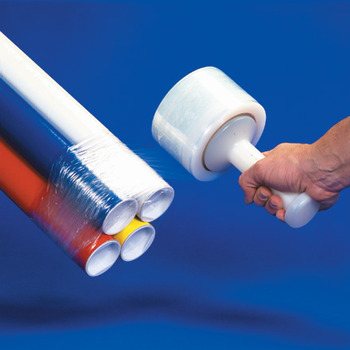 "Picture of item 971-840 a Bundling Stretch Film.  5"" x 1,000 Feet.  80 Gauge.  Clear Color."