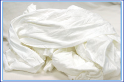 Picture of item 879-105 a White Cloth T-shirt Rags 25#.