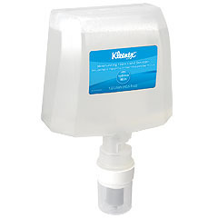 Picture of item 889-581 a KLEENEX® Moisturizing Foam Hand Sanitizer. 1200 ML Cassette. Foam for electronic dispenser. Clear.