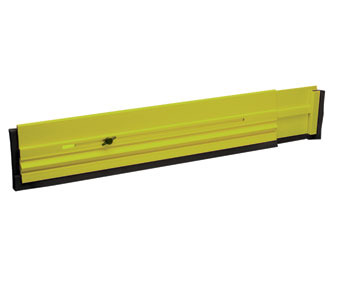 "Picture of item 970-542 a Floor Dam™.  Prevents chemicals and liquids from running through doorways.  Flourescent Yellow and Green Color.  24"" and extendable to 40"" long."