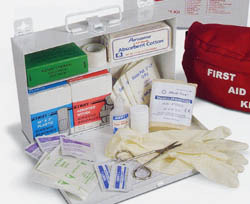 Picture of item 968-409 a First Aid Kit, 10.5 Inches X 7.25 Inches X 2.5 Inches, Number 25 Standard, Each. North Safety Products.