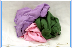Picture of item 973-542 a Anchor Wiping Cloth Assorted Color Cloth T-Shirt Rags. 10#.