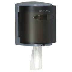 Picture of item 967-338 a Kimberly Clark Professional* Roll Control Center-Pull Towel Dispenser. Smoke color.