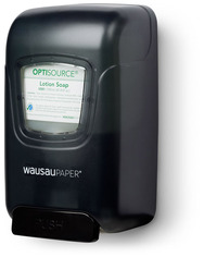 Picture of item 889-800 a OptiSource Convertible™ Soap Dispenser.  Black Translucent Color.  Push-Bar Operation.
