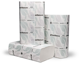 Picture of item 869-506 a DublNature® OptiFold® Towels. 10 1/4 X 9 1/2 in. White. 3000 towels.