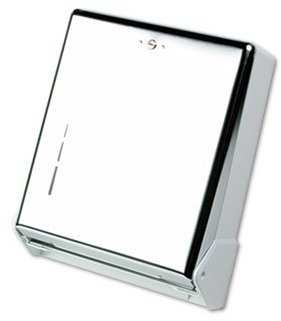 Picture of item 968-755 a San Jamar True Fold™ Metal Front Cabinet Towel Dispenser. 11 5/8 X 5 X 14.5 in. Chrome.