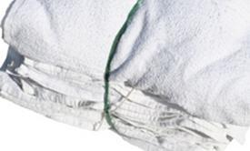 "Picture of item 879-108 a Anchor Wiping Cloth White Terry Cloth Rags. 12"" x 12"". 50lb."