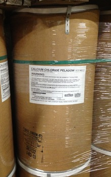 Picture of item 625-101 a Peladow™ Calcium Chloride Pellets. Premier Snow and Ice Melter. 100 lb. Drum.