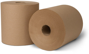 Picture of item 871-407 a EcoSoft® Controlled Roll Towels. 8 in X 800 ft. Natural. 6 rolls.