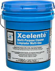 Picture of item SPT-001905 a Xcelente™ Multi-Purpose, Hard Surface Cleaner.  5 Gallon Pail.