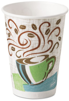 Picture of item 103-091 a PerfecTouch® Insulated Paper Hot Cup.  12 oz.  Coffee Design.  50 Cups/Sleeve.