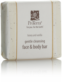 Picture of item 670-405 a ProTerra Green Collection.  Honey and Vanilla Face & Body Bar.  Paper Wrapped.  1.375 oz.  288 Bars/Case.