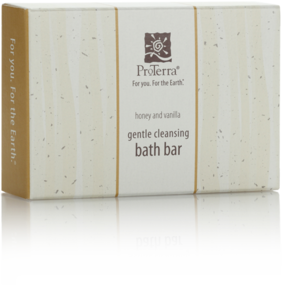 Picture of item MRT-PT175BC a ProTerra Green Collection.  Honey and Vanilla Gentle Cleansing Bath Bar in Carton.  1.75 oz.  200 Bars/Case.