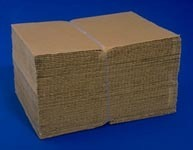 Picture of item 294-101 a Corrugated Cardboard Sheet.  4 Feet x 8 Feet.  C-Flute.
